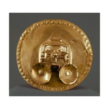 Pendant Breastplate in Gold Leaf, Artifact Originating from Calima Giclee Print