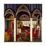Triptych of the Birth of the Virgin, 1342 Giclée-tryk af Pietro Lorenzetti