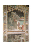 An Angel Instructs a Priest to Bring Food to St. Benedict Giclee Print by Taddeo Gaddi