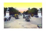Champs-Elysees, from 'Souvenirs De Paris - Monuments Vues En Couleurs' Giclee Print