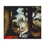 Penitent St Jerome, 1515-1520 Giclee Print by Lucas van Leyden