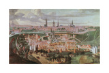 Panoramic View of the City of Ghent at the End of the 16th Century Giclee Print by Lucas De Heere
