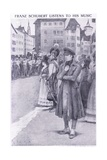 Franz Schubert Listens to His Music in the Streets of Vienna Giclee Print by Charles Mills Sheldon