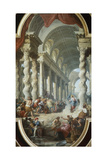 Jesus Stoned in the Temple Giclee Print by Giovanni Paolo Panini