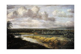 Landscape with a River, 1650-1655 Giclee Print by Phillips de Koninck