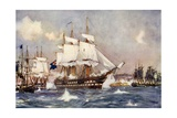 The Bombardment of St Jean D'Acre by the British and Allied Squadrons Giclee Print by Charles Edward Dixon