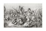 Julius Caesar's First Invasion of Britain in 55 BC Giclee Print