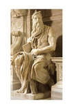 Moses, Detail from Tomb of Julius II Giclee Print by  Michelangelo Buonarroti