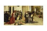 St Dominic Resurrecting Napoleone Orsini Giclee Print by Lorenzo Lotto