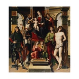 Madonna with Child, Angels and Saints Giclee Print by Francesco Francia