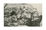 A British Naval Officer Overhauling an Arab Slave Dhow Giclee Print by William Heysham Overend