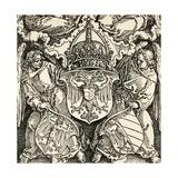 Coat of Arms of the Germanic Empire Giclée-Druck von Albrecht Dürer