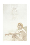 Seated Female Nude with Ghostly Female Figure in the Background, 1897 Giclee Print by Armand Rassenfosse