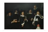 Regents of Old Men's Almshouse of Harlem, 1664 Giclee Print by Frans Hals