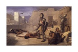 Chobala Massacre During Spanish Conquest Giclee Print by Felix Parra