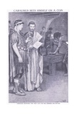Carausius Sees Himself on a Coin He Has Ordered for Britain Giclee Print by Walter Stanley Paget