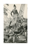 Lord Cochrane Signals for Assistance to Attack the French Fleet Giclee Print by William Heysham Overend