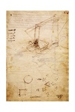Ship, from Codex Trivulzianus, 1478-1490 Giclee Print by  Leonardo da Vinci