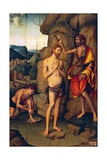 Panel Depicting Baptism of Christ, 1534 Giclee Print by Marco Palmezzano