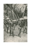 The Followers of Dr. Livingstone Carry His Embalmed Body to the Coast Giclee Print by Walter Stanley Paget