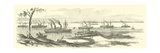 Banks Landing at Baton Rouge, Louisiana, March 1863 Giclee Print