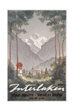 Poster Advertising Interlaken as a Holiday Destination, C.1930 Giclee Print