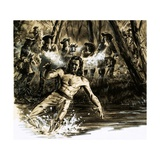 Colonel James Roch Volunteered to Carry a Message Through Enemy Lines Giclee Print by Ralph Bruce