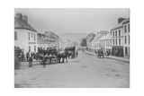 Passenger Carts in the Main Street of Kenmare, Ireland, 1890s Giclee Print by Robert French