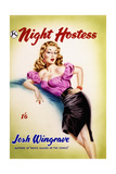 Original Cover Design for 'The Night Hostess' by Josh Wingrave Giclee Print by Joseph Werner