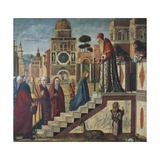 Presentation of the Virgin Mary at the Temple Giclée-tryk af Vittore Carpaccio
