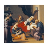 The Birth of St John the Baptist, 1515-1520 Giclee Print by Giuliano Bugiardini