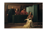 Valenza Gradenigo before Her Father the Inquisitor Giclee Print by Francesco Hayez