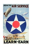 Join the Air Service'- American Recruiting Poster Giclee Print