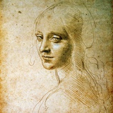 Study for the Angel of the Virgin of the Rocks Giclee Print by Leonardo da Vinci