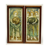 The First Day of Creation and the Third Day of Creation Giclee Print by Sir Edward Coley Burne-Jones