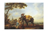 Return from Market, 1785 Giclee Print by Louis Joseph Watteau