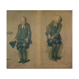 Two Sketches of David Garrick in Character, 18th Century Giclee Print by Johann Zoffany