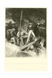 Lieutenant Nelson Volunteering to Board a Prize in a Violent Gale Giclee Print by Richard Westall