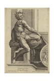Figure from the Sistine Chapel Fresco in the Vatican Giclee Print by  Michelangelo Buonarroti