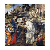 Apparition of Virgin to St Bernard Giclee Print by Filippino Lippi