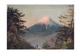 A View of Mount Fusiyama with Figures in the Foreground Giclee Print by Charles Wirgman