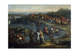 Pope Innocent XII Visiting Anzio Port Giclee Print by Giovanni Reder