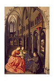 Sacred Conversation Inside Church Giclee Print by Konrad Witz