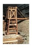 Julius Caesar's Siege Tower Against Bituriges at Avaricum Giclee Print