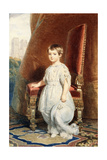 Portrait of the Comte De Paris, as a Boy in a White Costume, 1842 Giclee Print by Franz Xaver Winterhalter