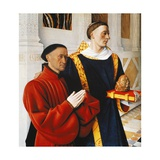 Etienne Chevalier and Saint Stephen Giclee Print by Jean Fouquet