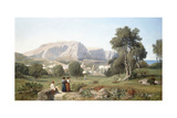 Taking in the View on the Island of Capri in the Gulf of Naples, 1853 Giclee Print by Henri-Joseph Harpignies