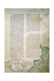 Plan and Garden Design, Codex Ashburnham 361 Giclee Print by  Leonardo da Vinci