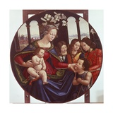 Madonna with Child and Angels Giclee Print by Sebastiano Mainardi