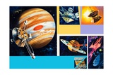 Early Unmanned Space Missions to the Outer Planets Giclee Print by Wilf Hardy